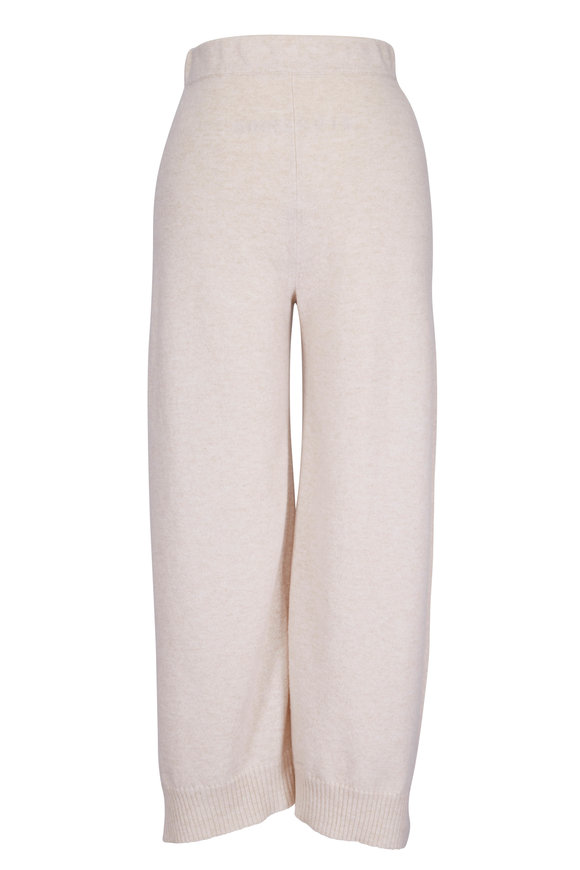 Rosetta Getty Sand Wool & Cashmere Paneled Culottes