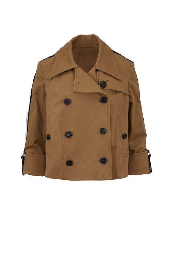Veronica Beard Mert Khaki Crop Jacket