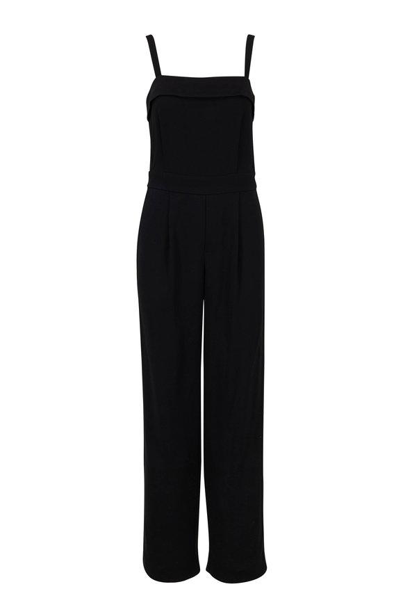 Vince Black Sleeveless Tuxedo Jumpsuit