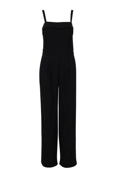 Vince - Black Sleeveless Tuxedo Jumpsuit