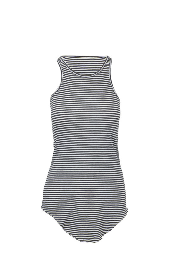 Frank & Eileen Carbon Striped Base Layer Tank