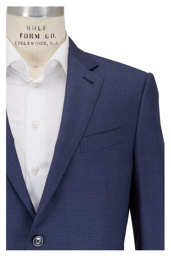 Ermenegildo Zegna Slate Blue Melange Wool Suit