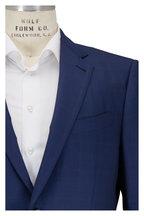 Ermenegildo Zegna - Medium Blue Tonal Windowpane Wool & Silk Suit