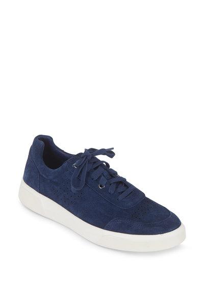 Vince - Barnett Ocean Blue Suede Sneaker