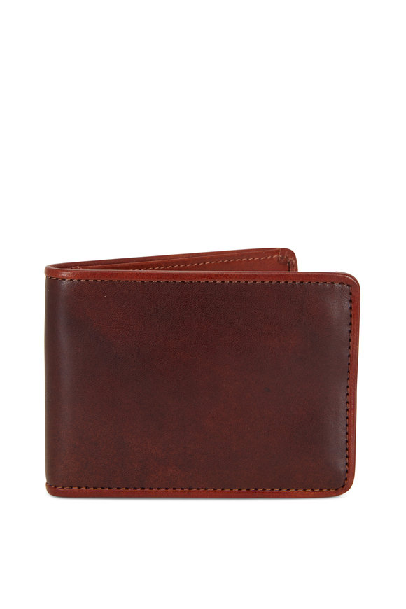 Bosca Dark Brown & Amber Leather Wallet