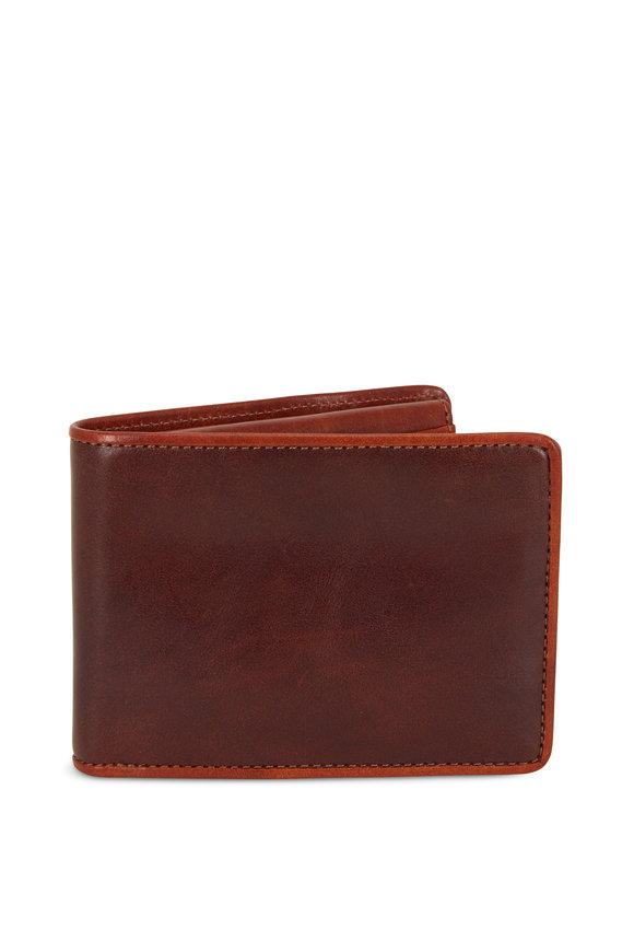 Bosca Dark Brown Leather Two-Tone Wallet
