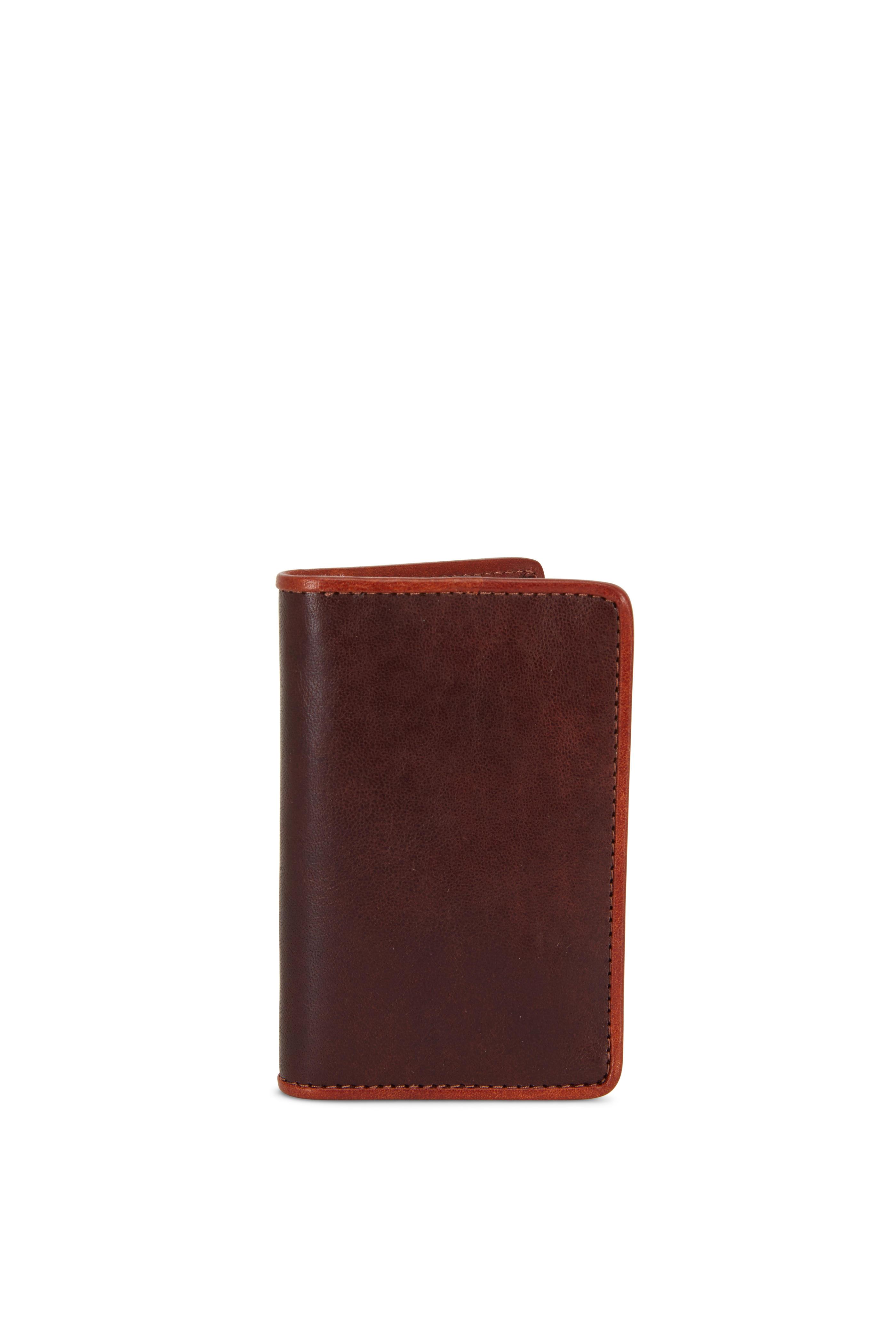 buy online fda13 c7ec8 Bosca - Dark Brown & Amber Leather Calling Card Case   Mitchell Stores