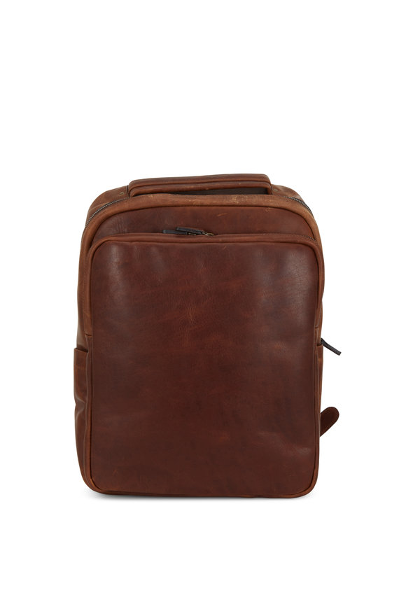 Moore & Giles Quinn Baldwin Oak Leather Commuter Backpack