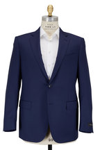 Ermenegildo Zegna - Navy Blue Micro Check Wool Suit