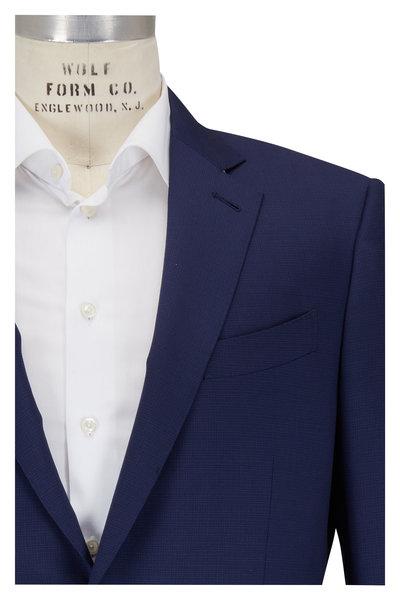 Ermenegildo Zegna - Navy Blue Micro Check Wool Suit