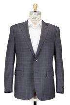 Ermenegildo Zegna - Gray Tonal Windowpane Wool & Silk Suit