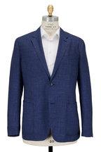Ermenegildo Zegna - Blue Textured Cashmere, Silk & Hemp Sportcoat