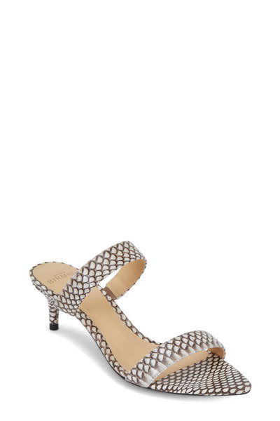 Alexandre Birman - Leblon Natural Python Two-Band Slide, 50mm