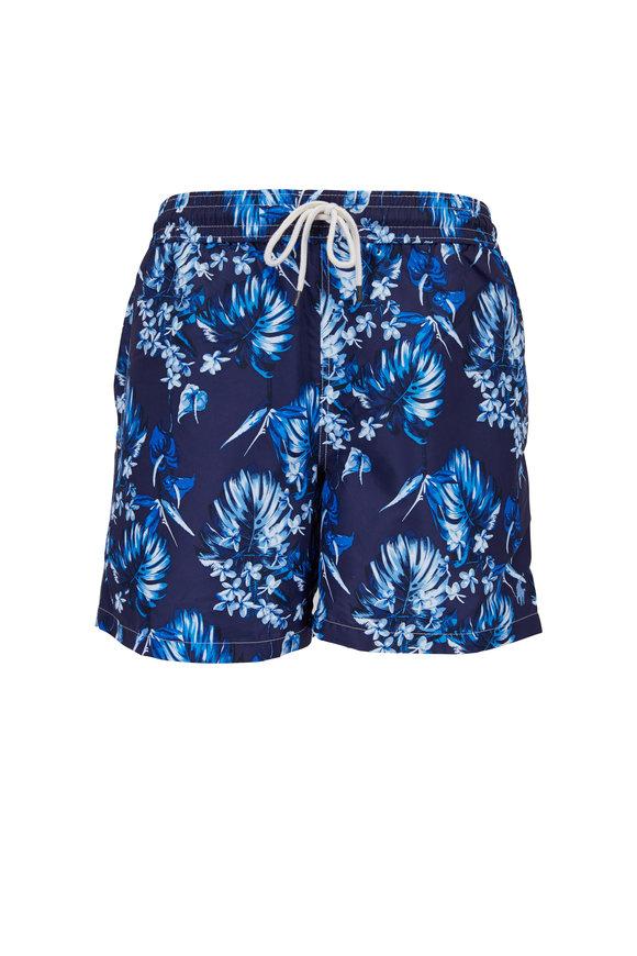 Polo Ralph Lauren Blue Tonal Floral Swim Trunks