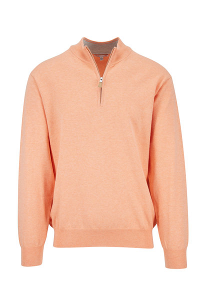 Peter Millar - Crown Orange Soft Quarter-Zip Pullover