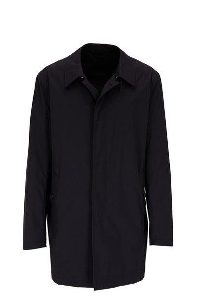 Manto - Bertra Navy Blue Packable Raincoat