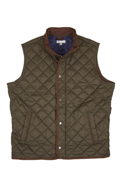 Peter Millar - Essex Olive Quilted Vest