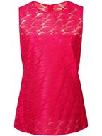 Akris - Pink Embroidered Lips Sleeveless Blouse