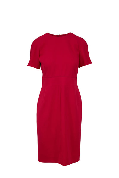 Akris - Pink Wool Zip Waist Sheath Dress
