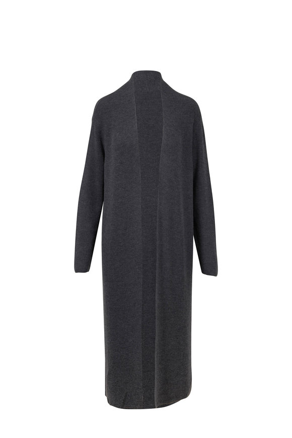 Gabriela Hearst Llorona Charcoal Gray Cashmere Long Cardigan