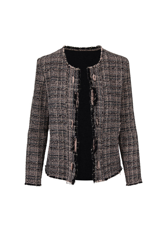 IRO Pink & Black Tweed Jacket