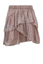 IRO - Huge Metallic Pink Flounce Hem Skirt