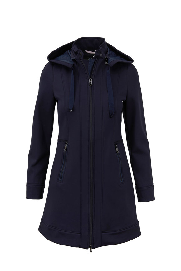 Bogner Eliza Navy Hooded Coat