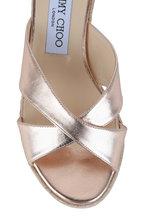 Jimmy Choo - Almer Ballet Pink Metallic Wedge Sandal