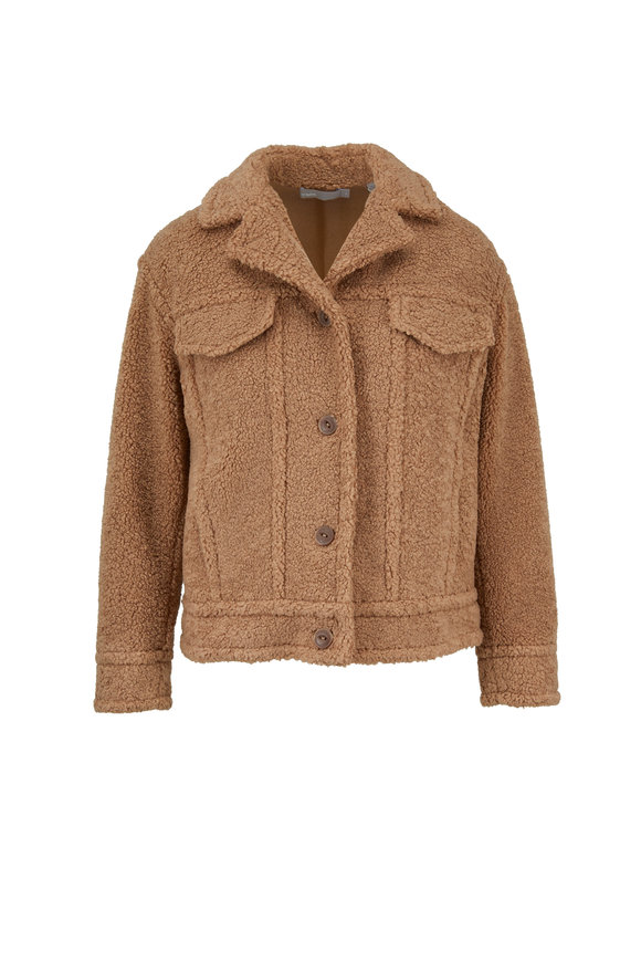 Vince Dark Camel Sherpa Jacket
