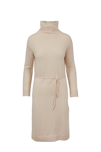 Vince - Blush Wool & Cashmere Turtleneck Sweater Dress