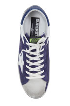 Golden Goose - Superstar Navy Suede White Star Sneaker