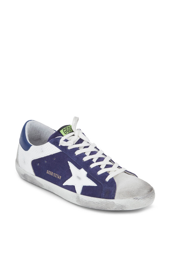 Golden Goose Superstar Navy Suede White Star Sneaker