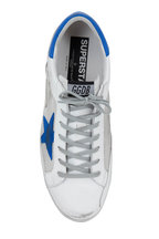 Golden Goose - Superstar White Leather & Silver Net Sneaker
