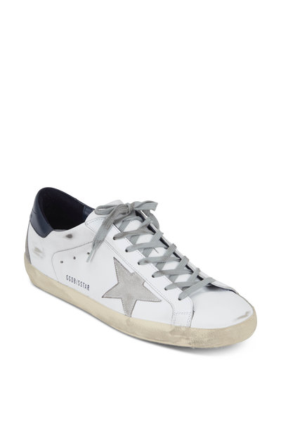 Golden Goose - Superstar White Leather & Gray Star Sneaker