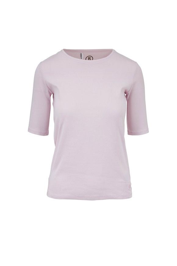 Bogner Velvet Light Pink Elbow Sleeve T-Shirt