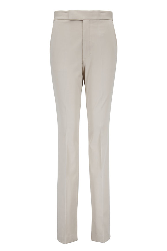 Helmut Lang Rider Oatmeal Stretch Cotton Legging Pant