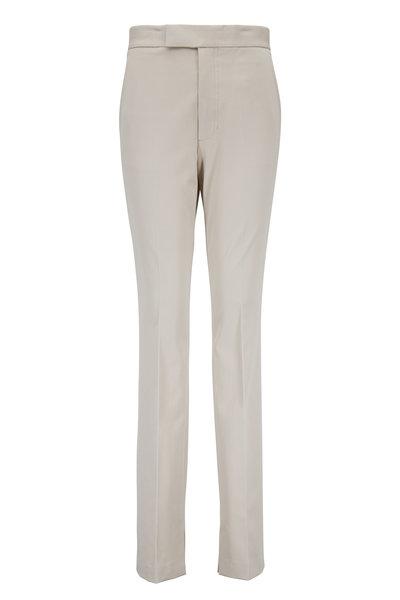 Helmut Lang - Rider Oatmeal Stretch Cotton Legging Pant