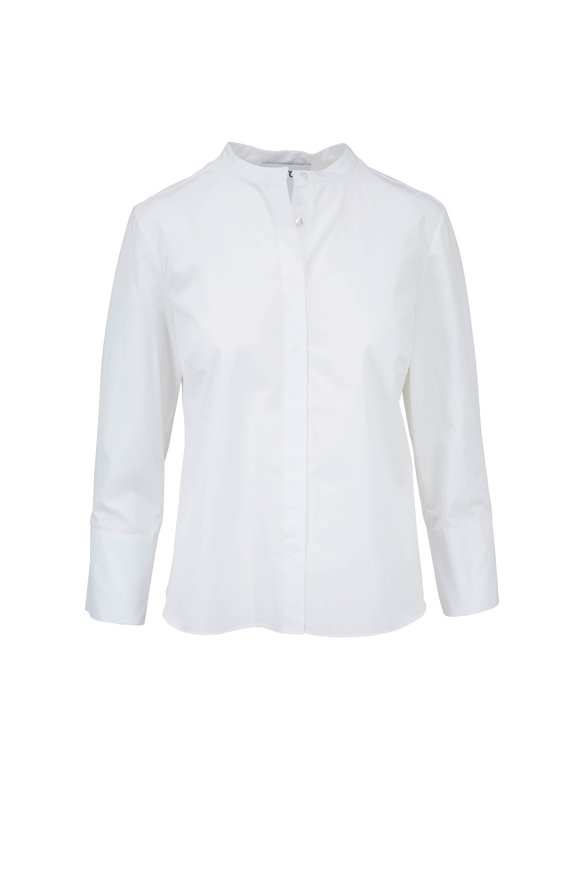Partow Bell White Poplin Blouse
