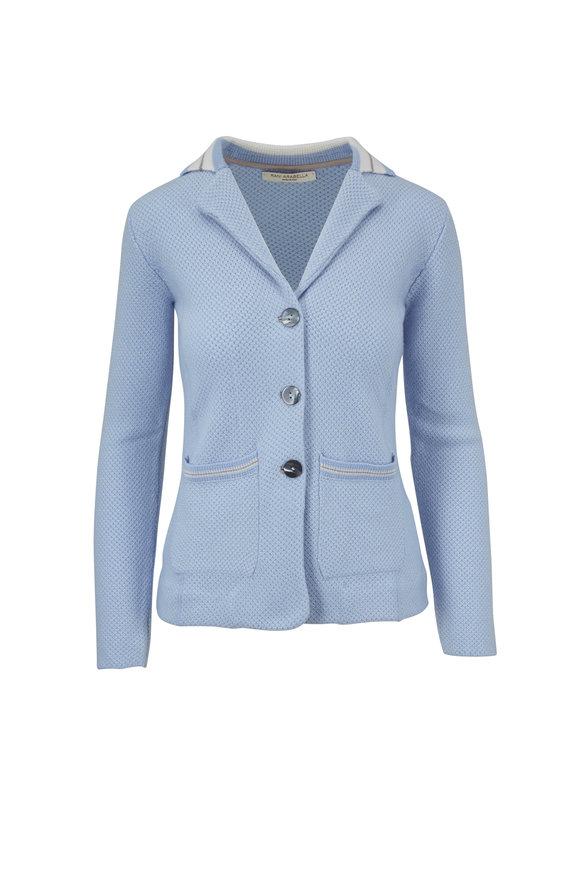 Rani Arabella Light Blue Cashmere Knit Jacket