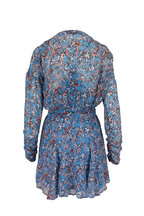 IRO - Bustle Blue Printed Wrap Dress