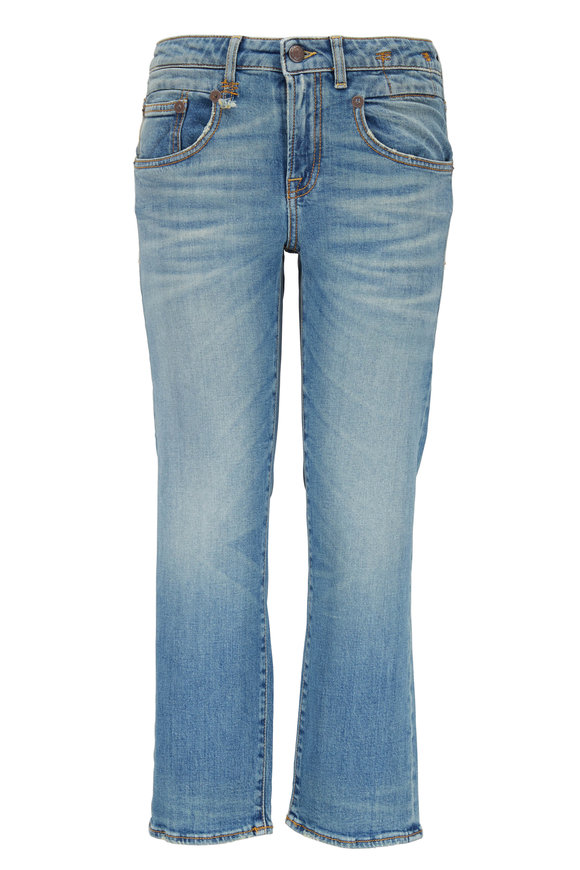 R13 Boy Light Wash Straight Jean