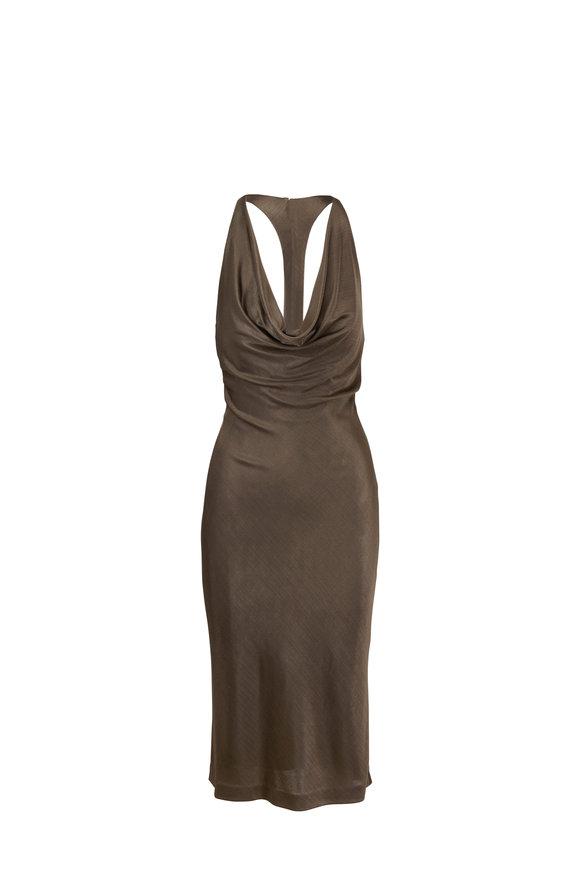 Cushnie Mink Sleeveless Pencil Dress