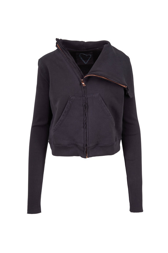 Frank & Eileen Carbon Cotton Asymmetric Zip Jacket