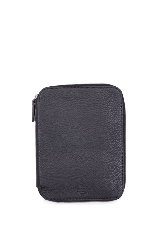 Shinola Black Leather Tech Portfoliocase