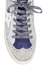 Golden Goose - Mid Star Silver Glitter White Star Sneaker