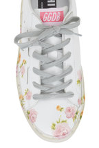 Golden Goose - Hi Star White Leather Floral Print Sneaker