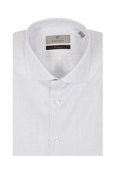 Canali - Navy Blue Tic Dress Shirt