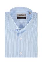 Canali - Light Blue Striped Dress Shirt