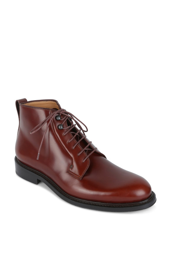 Heschung Pin Merlot Leather Desert Boot