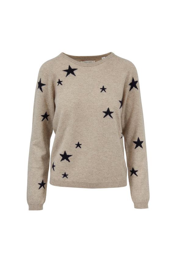 Chinti & Parker Beige & Black Star Cashmere Sweater